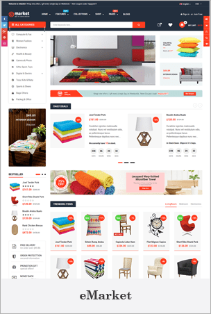 eMarket - Tema Shopify para arrastrar y soltar, sensible y multiusos