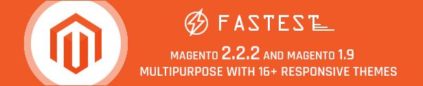 Más rápido: temas de Magento 2 y Magento 1. Tema responsivo de usos múltiples (20 Inicio) Compras, Moda