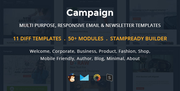 Dígito - Plantilla de correo electrónico sensible con múltiples propósitos con Stampready Builder y Mailchimp Access - 6
