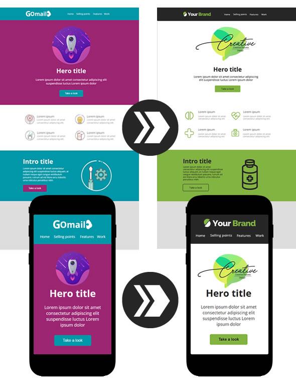 Plantilla Gomail - Adapta tu marca