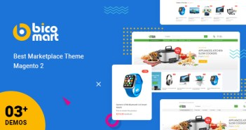 Bicomart - Potente tema de Magento 2 para Marketplace, proveedor múltiple