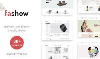 Fashow - Tema de Shopify minimalista y moderno
