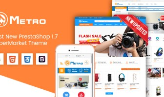 Metro - Tema PrestaShop 1.7 sensible de MarketPlace sensible