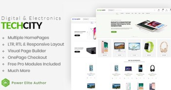 TechCity - El tema de Opencart 3 de Digital Premium, SaaS, Apps & Electronics
