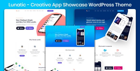 plantillas woordpress App Landing page