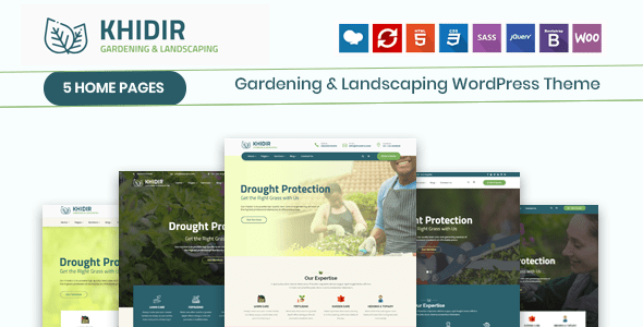 Plantillas WordPress jardinería y paisajismo