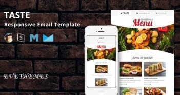 Gusto - Plantilla de correo electrónico sensible al restaurante