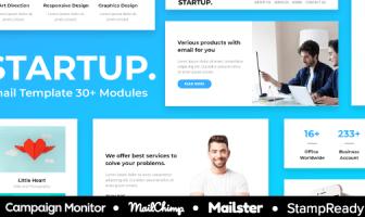 Inicio - Plantilla de correo electrónico receptivo de la agencia Más de 30 módulos - StampReady + Mailster & Mailchimp Editor