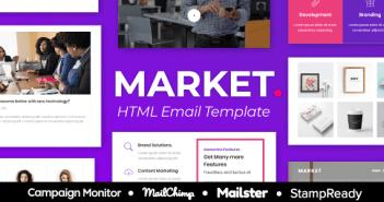 Market Agency - Plantilla de correo electrónico receptivo multipropósito para agencia - StampReady + Mailster & Mailchim