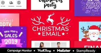 Navidad - Navidad y Año Nuevo Venta Multi-Responsive Email Responsive Template + StampReady Builder