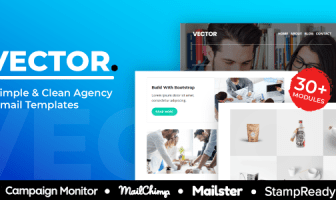 Vector - Agencia Responsive Email Template 30+ Módulos - StampReady + Mailster & Mailchimp Editor