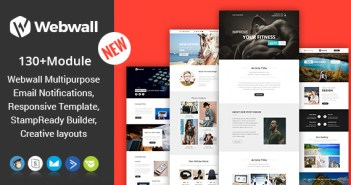 Webwall- 130+ Módulos - Responsive Email Template + Builder