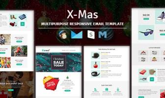 X-mas - Plantilla de correo electrónico sensible con acceso a Stampready Builder