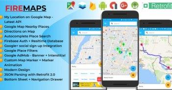 FireMaps: la aplicación de Android definitiva para las funciones de la utilidad Google Maps con integración Firebase