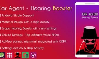 Agente del oído: amplificador de audición y AdMob + GDPR