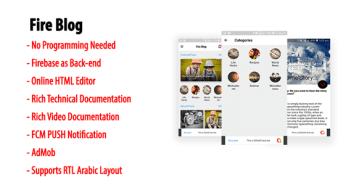 Blog de Fuego | Blog nativo de Android o aplicación de noticias con Firebase Back-end