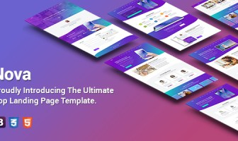 Nova - Plantilla de página de destino de aplicación premium