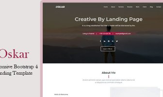 Oskar - Responsive Bootstrap 4 Plantilla de aterrizaje