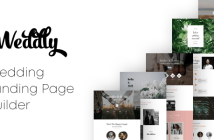 Weddly - Wedding Landing Pages con Page Builder