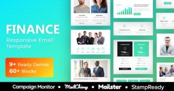 Agencia Financiera - Plantilla de correo electrónico receptivo multipropósito - StampReady + Mailster & Mailchimp