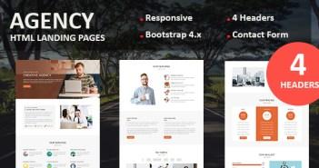 Agencia - Página de inicio de respuesta multipropósito