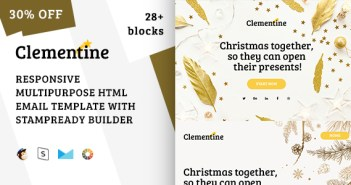 Clementine - Responsive Christmas Email Template + Stampready Builder
