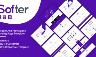 Más suave - Página de inicio de SaaS y software HTML5