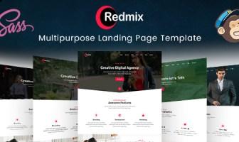 Redmix - Plantilla de página de destino multipropósito
