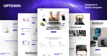 Uptown Email-Template + Online Builder