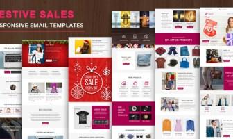 Ventas festivas: plantilla de correo electrónico receptivo de usos múltiples con StampReady Builder & Mailchimp E en línea