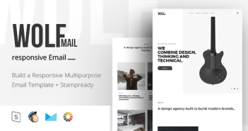 Wolf Mail - Responsive Email + StampReady Builder