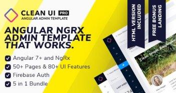 Clean UI Angular Pro - Angular NgRx Admin Template + Html Version
