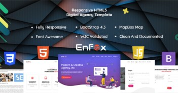 Enfox - Plantilla HTML Responsive Digital Agency