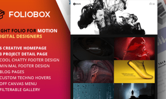 Foliobox - Plantilla HTML de cartera