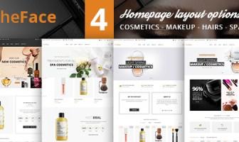 TheFace - Plantilla de Bootstrap 4 de comercio electrónico de belleza y cosmética