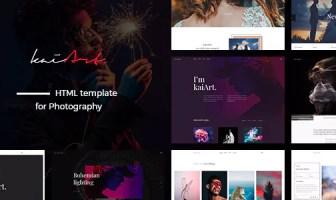 kaiArt - Plantilla HTML responsiva para fotografía