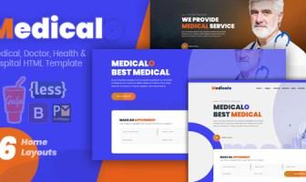 Medicalo - Plantilla HTML para médicos, médicos y hospitales