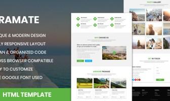 TraMate - Plantilla HTML de agencia de viajes