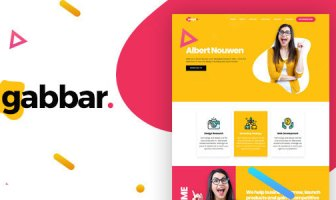 Gabbar - Plantilla HTML de cartera