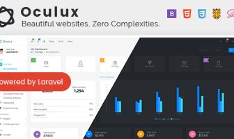 Oculux - Minimal Laravel + Bootstrap 4x plantilla de administración