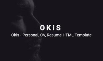 Okis - Plantilla HTML para currículum vitae personal