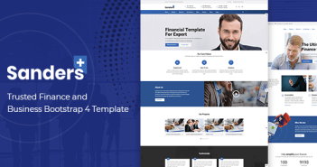 Sanders - Trusted Finance y Business Bootstrap 4 Template