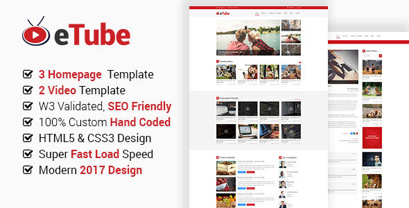 Plantilla HTML eTube