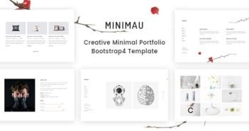 Minimau - Plantilla de Bootstrap4 de cartera mínima creativa