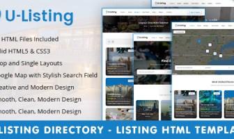Directorio U-Listing - Plantilla HTML de listado