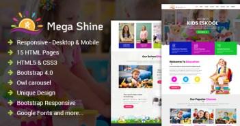 MegaShine- Plantilla HTML para una escuela primaria de educación