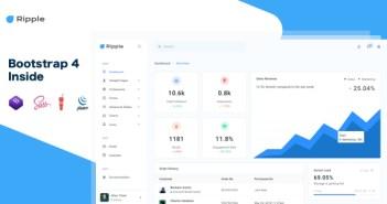 RippleUI - Plantilla de panel de administración sensible de Bootstrap 4