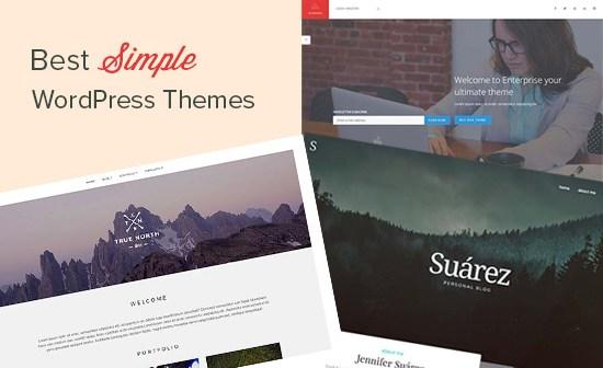 Best simple WordPress themes