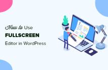 Usando un editor de pantalla completa sin distracciones en WordPress