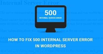 como arreglar el error 500 wordpress
